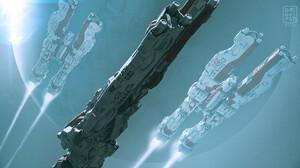 DOFRESH Artwork Science Fiction Vehicle Spaceship 1920x1080 Wallpaper