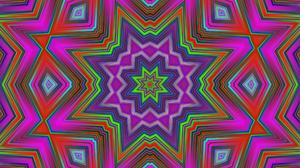 Abstract Artistic Colors Digital Art Kaleidoscope Pattern Star 1920x1080 Wallpaper