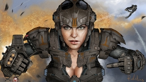 Sci Fi Women Warrior 1440x810 wallpaper