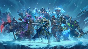 Hearthstone Heroes Of Warcraft Knights Of The Frozen Throne Jaina Proudmoore Video Games Guldan Andu 8000x4500 Wallpaper