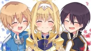 Anime Girls Anime Boys Kirigaya Kazuto Eugeo Alice Zuberg Sword Art Online 2786x1669 Wallpaper