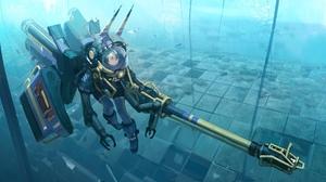 Comics Space Valkyrie Marvel Comics Science Fiction AGOTO Underwater 4096x2470 Wallpaper