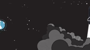 Earth Space Shuttle Stars 3840x1080 Wallpaper