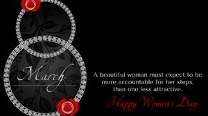 Black Statement Eight Diamond Happy Women 039 S Day 1920x1200 Wallpaper