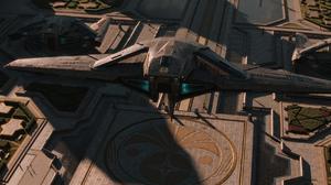 Foundation Futurism Science Fiction Trantor Spaceship Landing Landing Pad Galactic Empire Long Shado 1920x960 Wallpaper