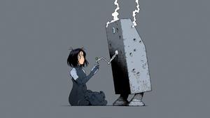 Battle Angel Alita Alita Battle Angel Gally Alita Yukito Kishiro Short Hair Cyborg Robot Smoke Anime 1920x1080 Wallpaper
