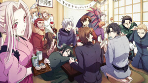 Saber Fate Series Gilgamesh Fate Series Kirei Kotomine Tokiomi Tohsaka Kiritsugu Emiya Ryuunosuke Ur 2034x1438 Wallpaper