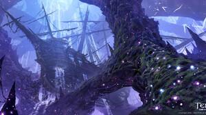 J Line Digital Fantasy Art Ship Tree Bark 1920x948 wallpaper