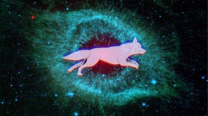 Space Dog Helix Nebula 2560x1441 Wallpaper