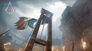 Video Games Assassins Creed Unity Concept Art Guillotine Artwork Assassins Creed 3840x2160 Wallpaper