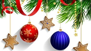 Christmas Christmas Ornaments Gingerbread 4200x3300 Wallpaper