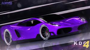 Artistic Purple Car 2996x1622 Wallpaper