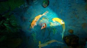 Tyler Smith Digital Art Fantasy Art Fish Shark Koi 3840x2080 Wallpaper