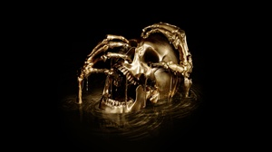 Black Sails Gold Skull 7680x4320 Wallpaper
