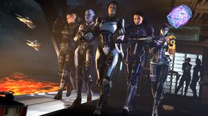 Mass Effect Ashley Williams Liara TSoni TaliZorah Jack Mass Effect Miranda Lawson Woman Warrior 3414x1920 Wallpaper