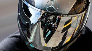 Formula 1 Car Mercedes Benz Pit Crew Helmet Mirror Reflection Mercedes F1 3072x2048 wallpaper