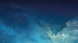 Stars Galaxy Sky Space Art Nebula Digital Art Space Art Space Sky Stars Clouds Cyan Blue 2560x1440 Wallpaper