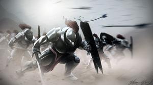 Armor Fight Helmet Knight Shield Sword Warrior 2150x1275 Wallpaper