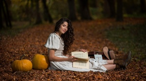 Book Fall Pumpkin 2048x1309 Wallpaper
