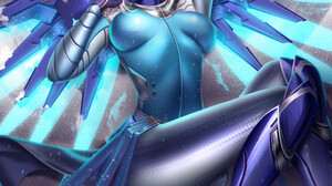 Liang Xing Mercy Overwatch Anime Girls 1055x1400 Wallpaper