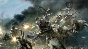 Banner Battle Creature Sword Warhammer 40k Warrior 2048x1496 Wallpaper