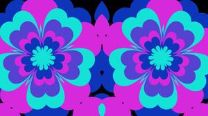 Artistic Colorful Colors Digital Art Flower Kaleidoscope Pattern Symmetry 1920x1080 Wallpaper