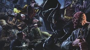 Batman Joker Killer Croc Penguin Dc Comics Robin Dc Comics Scarecrow Batman Two Face 2880x1800 Wallpaper
