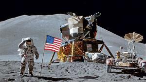 Apollo Astronaut NASA National Geographic Moon American Flag 1600x1200 Wallpaper