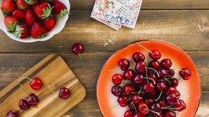 Berry Strawberry Fruit Still Life 4733x3155 Wallpaper