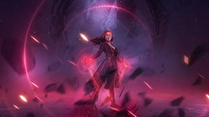 Scarlet Witch Marvel Comics Wanda Maximoff Elizabeth Olsen 3840x2160 wallpaper