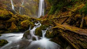 Forest Stream Waterfall 3000x2000 Wallpaper