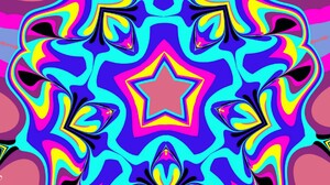 Artistic Digital Art Colors Pattern Shapes Star 1920x1080 Wallpaper
