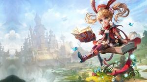 Little Girl Girl Blonde Book Magic Castle Blue Eyes 2230x1266 Wallpaper