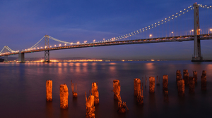 Man Made Bay Bridge 2560x1600 wallpaper