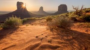 Desert Landscape Monument Valley Nature Sand Usa 6919x4765 wallpaper