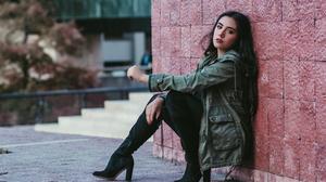 Cero Grey Women Model Latinas Outdoors Mexican Long Hair Urban 1500x1000 Wallpaper