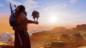 Assassins Creed Origins Bayek Senu Desert Egypt Video Game Man Video Game Characters Video Games Scr 3840x2160 wallpaper