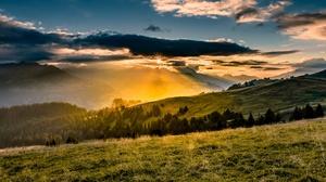 Field Landscape Nature Sky Sunlight 4028x2266 Wallpaper
