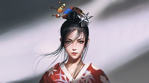 Woman Girl Black Hair 3840x2160 Wallpaper