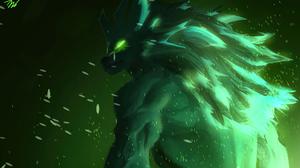 Werewolf Green Wolf Anthro 1920x1080 Wallpaper