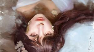 Asian Girl Lying Down Woman 2400x1920 Wallpaper