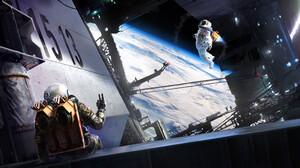 Astronaut Space Artwork Science Fiction 3840x2476 Wallpaper