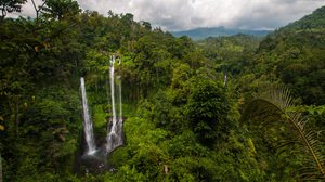 Landscape Indonesia Waterfall Asia Nature Jungle Plants Trees 2376x1584 Wallpaper