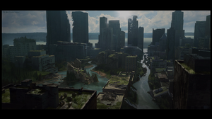 Video Games PlayStation 4 Apocalyptic Naughty Dog Artwork City 1920x1080 Wallpaper