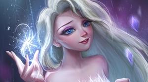 Blue Eyes Elsa Frozen Frozen 2 Girl White Hair 1920x1570 Wallpaper