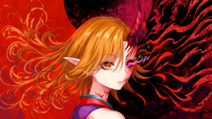 Anime Anime Girls Virtual Youtuber Utatane Mikuri Oni Horns Sakiyamama 2667x1500 Wallpaper