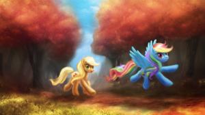 Applejack My Little Pony Rainbow Dash 1920x1080 Wallpaper