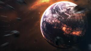 Planet Space Stars 1920x1200 Wallpaper