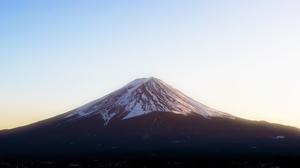 Mount Fuji Snow Sky Snowy Peak Japan 3840x1733 Wallpaper