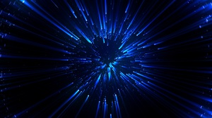 Abstract Blue Shiny Bright Digital Art Dark Lights Stars Glowing 5000x2813 Wallpaper